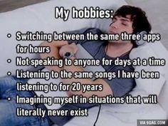 My hobbies:
