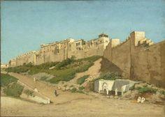 Algérie - Peintre Belge ASSELBERG Alphonse(1839 - 1916), Huile sur bois, Titre: Casbah d'Alger- Lieu de conservation: Musée d'Orsay Paris