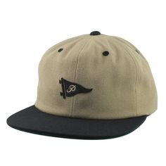 fa313efddfe Buy Primitive Felt Up Pennant Strapback Cap Camel at the longboard shop in  The Hague