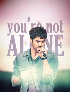 -Darren Criss is Not Alone- FAN pg on fb! Plz visit, LIKE and SHARE- Thx!