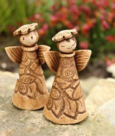 Christmas Clay, Christmas Makes, Christmas Ornaments, Hand Built Pottery, Slab Pottery, Ceramic Christmas Decorations, Pottery Angels, Slab Ceramics, Ceramic Angels