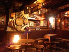 Irish pub bric a brac music decor