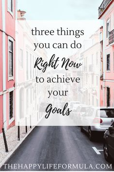 Have some goals you've been dying to achieve? Here are three things you can do today to start achieving your goals PLUS a guide to slaying your goals that you don't want to miss!