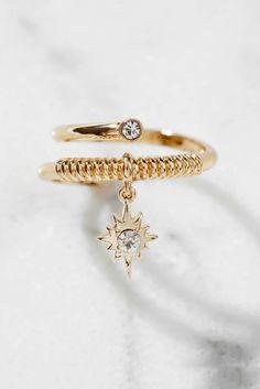 Ettika Wrap Ring With Starburst Charm
