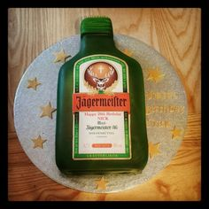 My Jagermeister cake Fun Food, Good Food, Designer Cakes, Cake Designs, Food Ideas, Texas, Anniversary, Party Ideas, Baking