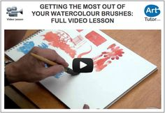 In this video lesson Bob Davies shows you all the different brushmarks you can get with your watercolour brushes. #watercolour