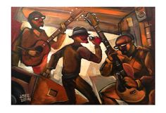 Music fills the air as this young unsigned band tries to get noticed while practicing in their garage.  Dimensions 13″ x 19″  Edition: 1000  Signed by artist