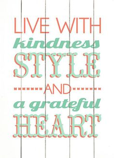 'Live with Kindness' Wood Wall Art