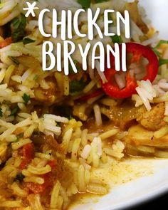 Chicken Biryani Easy — the ultimate Indian-inspired comfort food. recipe, easy , indian , instant pot, Chicken Biryani Easy — the ultimate. Curry Recipes, Asian Recipes, Vegetarian Recipes, Healthy Recipes, Easy Indian Food Recipes, Easy Comfort Food Recipes, Food Recipes For Kids, Indian Chicken Recipes, Easy Meals For Kids