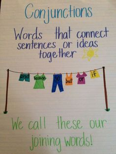 Chart Conjunctions Anchor Sentence Anchor Chart, Grammar Anchor Charts, Anchor Charts First Grade, Grammar Chart, Kindergarten Anchor Charts, Reading Anchor Charts, Grammar Worksheets, Teaching English Grammar, English Writing Skills