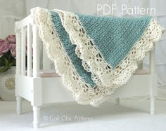 Crochet PATTERN 144 - Claire - Baby Blanket PATTERN 144 - Instant Download