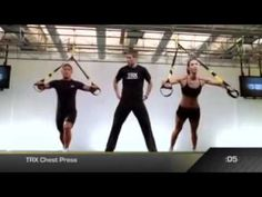 25 minutes of High Intensity Interval Training using the TRX suspension trainer. This TRX workout will keep your heart rate up the whole time and strengthen . Fit Board Workouts, Running Workouts, Trx Workout, Workout Videos, Body Workouts, Workout Plans, Suspension Training, Trx Suspension, Kettlebell Training