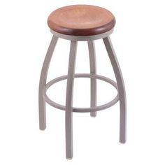 Holland Bar Stool Misha 36 in. Extra Tall Swivel Bar Stool with Wood Seat Medium Maple - 80236PWMEDMPL