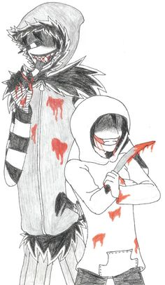 Laughing Jack and Jeff The Killer by artsyfoxy on DeviantArt