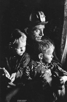 Jack Corn Photography | Coal miner and two children