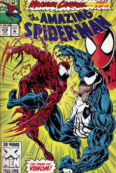 """The Amazing Spider-Man : Featuring the Rage of Venom in """"Demons on Broadway"""" (Maximum Carnage - Marvel Comics): David Michelinie, Mark Bagley: Books Marvel Comics, Comics Spiderman, Hq Marvel, Marvel Venom, Marvel Comic Books, Marvel Heroes, Comic Books Art, Venom Spiderman, Venom Comics"""