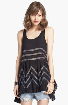 Free People Lace Trim Trapeze Tunic Dress available at #Nordstrom (size xtra small)