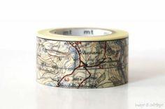 Map MT ex Washi Tape Japanese - NEW Washi Tape - Japanese Washi Tape
