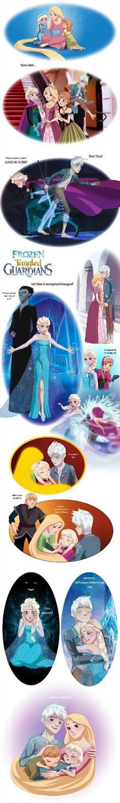 Crossover Headcanon: Frozen/Tangled/Rise of the Guardians