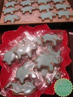 Elephant decorated sugar cookies.  These were fantastic for my sister in-law's baby shower for her baby boy.  =)