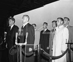 Andrews Air Force Base Feb. 26, 1962. Gus Grissom, Space Astronauts, Project Mercury, Nasa History, Nasa Space, Vintage Space, Space Race, Space Program, Space Shuttle