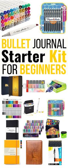 Complete bullet journal starter kit for beginners! This massive list of bullet journal supplies is exactly what you need for your bujo starter kit! I'm so glad I found all these awesome ideas to start my bullet journal. Now I can finally start my bujo the Bullet Journal Budget, Bullet Journal Wishlist, Bullet Journal Mood Tracker, Best Bullet Journal Pens, Bullet Journal Banners, Bullet Journal September Cover, Bullet Journal Weekly Spread, Bullet Journal Essentials, Bullet Journal Starter Kit