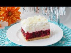 "Ciasto ""Malinowa chmurka"" - YouTube Vanilla Cake, Ale, Cheesecake, Youtube, Food, Sheet Cakes, Bakken, Ale Beer, Cheesecakes"
