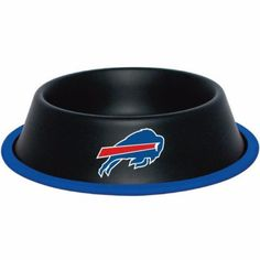 """-""""Buffalo Bills Stainless Dog Bowl"""" - BD Luxe Dogs & Supplies"""