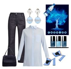 """Blue"" by sukia ❤ liked on Polyvore featuring Calvin Klein Collection, Valentino, The Row, Rochas and Miu Miu"