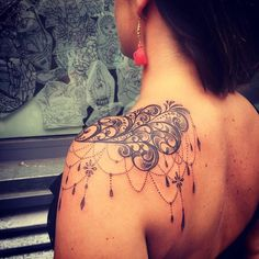 Image result for lace shoulder tattoo