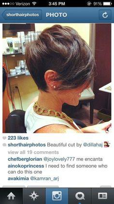 @dillahaj short hair.