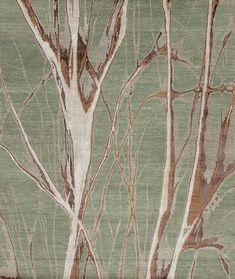 Modern Tibet 4 - Mangrove - Samad - Hand Made Carpets Modern Area Rugs, Home Rugs, Tibet, Innovation Design, Knots, Carpets, Green Rugs, Handmade, Nepal