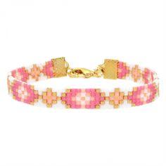 Beads-armbandje 'Hawaii Flower' - Mint15