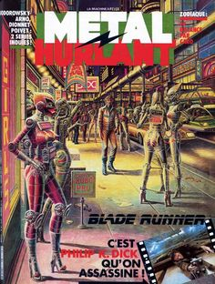 Métal Hurlant was the daring magazine that broke all the rules and altered the course of science-fiction's aesthetic forever. It inspire Balde Runner.