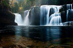 Lower Lewis River Falls in WA
