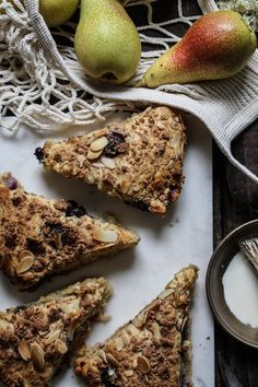 pear blueberry elderflower scones with almond amaretti crumb
