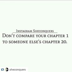 #Repost @sheconquers with @repostapp A lot of people can't see the progress they've made just because they are always comparing themselves to others. ___________________________________________ We constantly compare our beginning to someone elses middle.Our middle to someone elses end. And when you do that youll find that youre never ever satisfied. Youll never ever be good enough. Youll always struggle to celebrate your accomplishments. ____________________________________________ Wherever…