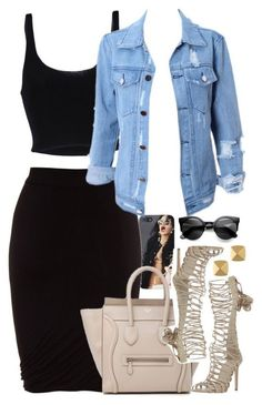 A fashion look from March 2016 featuring Roque tops, T By Alexander Wang skirts and Roberto Cavalli ankle booties. Browse and shop related looks. Swag Outfits, Classy Outfits, Stylish Outfits, Fashion Outfits, Womens Fashion, Fashion Tips, Outfit Chic, Rock Chic, Kourtney Kardashian