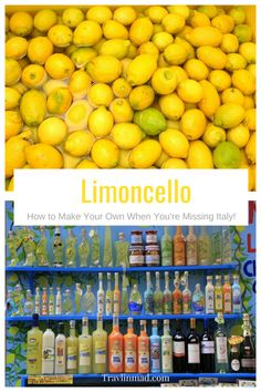 Italian Limoncello recipe, authentic limoncello recipe, How to make your own limoncello Authentic Limoncello Recipe, Italian Limoncello Recipe, Making Limoncello, Homemade Limoncello, Homemade Alcohol, Homemade Liquor, Fruit Drinks, Alcoholic Drinks, Cocktails
