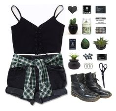 """ Here i am just drownin' in the rain, with a ticket for a runaway train. "" by centurythe ❤ liked on Polyvore featuring Levi's, Dr. Martens, Dot & Bo, Koh Gen Do, HAY, The Body Shop, women's clothing, women, female and woman"