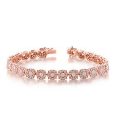 Rose Gold Diamond Bracelet style number B4414RG.