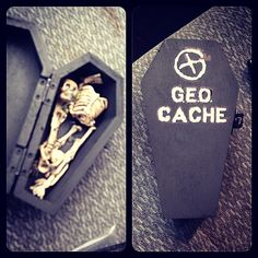Cute #geocache.  Appropriate with Halloween coming up!  (pinned from websta to Geocaching Holidays - Halloween - pinterest.com/islandbuttons/geocaching-holidays-halloween/)