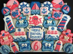 Nautical birthday for Meredith!