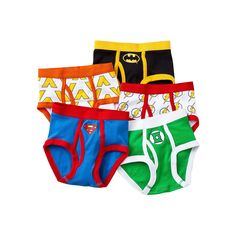 Boys Justice League 5-pk. Briefs, Size: 8, White