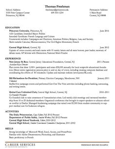 this examples sample freshman resume at princenton university we will give you a refence start on building resumeyou can optimized this example resume on - Freshman College Student Resume