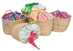 Two enchanted little islands off the coast of Ibiza - CABRERA & FORMENTERA - where the only line one might have to worry about is a tan line are the inspiration behind our Ibicenco baskets. Diy Bag Crafts, Origami Bag, Straw Tote, Unique Purses, Creation Couture, Basket Bag, Summer Bags, Bag Making, Ibiza