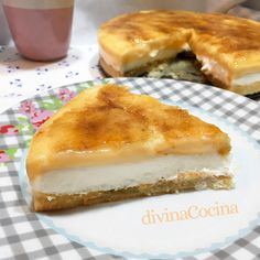 Cream and cream Goxua cake recipe - Easy Dinner Recipes, Sweet Recipes, Cake Recipes, Food N, Food And Drink, Recipe Images, Flan, Deli, Sweet Tooth