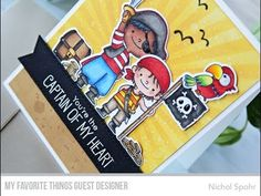 MFT Stamps | Party Like A Pirate Scene Card - YouTube