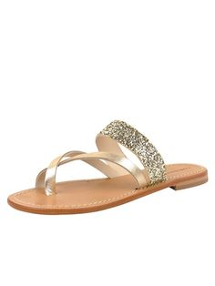 Fabio Rusconi, Silver and Gold Metallic Sandal, Dressy Flat Sandal