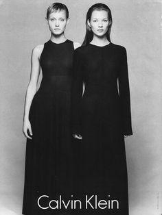 Calvin Klein, Amber Valetta & Kate Moss. 90s classic.